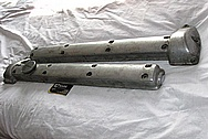 Jaguar Aluminum Valve Covers BEFORE Chrome-Like Metal Polishing and Buffing Services / Restoration Services