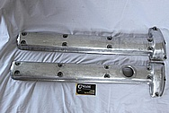 1959 Jaguar XKS 150 DOHC Aluminum Valve Covers BEFORE Chrome-Like Metal Polishing and Buffing Services Plus Painting Services