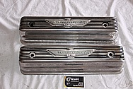 Ford Thunderbird Aluminum Valve Covers BEFORE Chrome-Like Metal Polishing and Buffing Services / Restoration Services