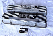 Mickey Thompson Aluminum Valve Covers BEFORE Chrome-Like Metal Polishing and Buffing Services / Restoration Services