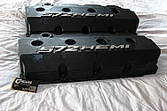 HEMI 572 Aluminum Valve Covers BEFORE Chrome-Like Metal Polishing and Buffing Services / Restoration Services Plus Custom Painting Services Plus Custom Painting Services