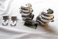 Toyota Supra 2JZGTE Wastegate AFTER Chrome-Like Metal Polishing and Buffing Services