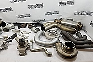 Twin Steel Precision Turbo Wastegates BEFORE Chrome-Like Metal Polishing and Buffing Services / Restoration Services - Steel Polishing