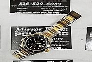 Rolex Submariner 2 Tone Gold / Stainless Steel Black Dial Watch BEFORE Chrome-Like Metal Polishing and Buffing Services / Restoration Service / Gold Polishing / Stainless Steel Polishing