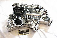 Dodge Challenger 6.1L Hemi Engine Aluminum Water Pump AFTER Chrome-Like Metal Polishing and Buffing Services