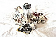 Edelbrock Aluminum Water Pump AFTER Chrome-Like Metal Polishing and Buffing Services