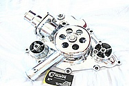 Dodge Hemi 6.1L Engine Aluminum Water Pump AFTER Chrome-Like Metal Polishing and Buffing Services