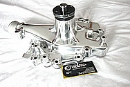 Aluminum V8 Engine Water Pump AFTER Chrome-Like Metal Polishing and Buffing Services