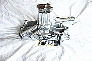 Mopar Aluminum Water Pump AFTER Chrome-Like Metal Polishing and Buffing Services / Restoration Services
