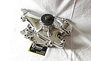 Aluminum Ford Racing Water Pump AFTER Chrome-Like Metal Polishing and Buffing Services / Restoration Services