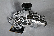 Edelbrock Aluminum Water Pump AFTER Chrome-Like Metal Polishing and Buffing Services / Restoration Services