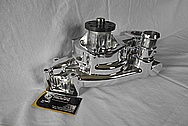Aluminum Edelbrock Water Pump AFTER Chrome-Like Metal Polishing and Buffing Services / Restoration Services