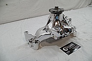Aluminum Weiand Water Pump AFTER Chrome-Like Metal Polishing and Buffing Services / Restoration Services