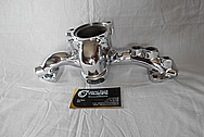 Mitsubishi 3000GT Aluminum Water Distribution Piece AFTER Chrome-Like Metal Polishing and Buffing Services / Restoration Services