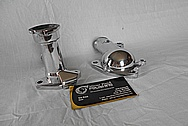 Toyota Supra 2JZ-GTE Aluminum Thermostat Housing AFTER Chrome-Like Metal Polishing and Buffing Services / Restoration Services