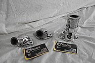 Ford Aluminum Thermostat Housing and Water Pieces AFTER Chrome-Like Metal Polishing - Aluminum Polishing