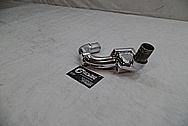 Toyota Supra 2JZ-GTE Aluminum Upper Water Housing Piece AFTER Chrome-Like Metal Polishing - Aluminum Polishing
