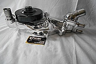 Chevrolet Corvette Aluminum Water Pump Housing AFTER Chrome-Like Metal Polishing - Aluminum Polishing Services