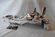 Aluminum Engine Waterpump AFTER Chrome-Like Metal Polishing and Buffing Services - Aluminum Polishing