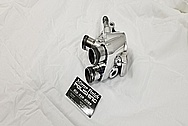Aluminum Water Pump Distribution Block and Thermostat Housing AFTER Chrome-Like Metal Polishing and Buffing Services - Aluminum Polishing Services