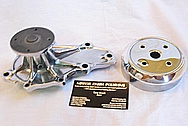Mazda RX-7 Aluminum Waterpump Pieces AFTER Chrome-Like Metal Polishing and Buffing Services