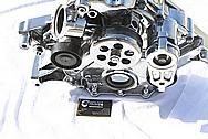 Dodge Hemi 6.1L Aluminum Waterpump AFTER Chrome-Like Metal Polishing and Buffing Services