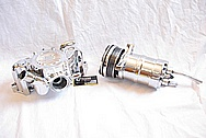 1994 Chevy ZR-1 Corvette Aluminum Waterpump AFTER Chrome-Like Metal Polishing and Buffing Services Plus Metal Clear Coating Services
