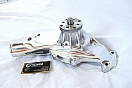 Chevrolet ZL-1 V8 Aluminum Water Pump AFTER Chrome-Like Metal Polishing and Buffing Services