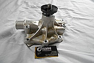 Edelbrock Aluminum Water Pump BEFORE Chrome-Like Metal Polishing and Buffing Services / Restoration Services