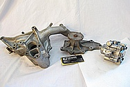 1993 Mazda RX7 Rotary Aluminum Waterpump Housing BEFORE Chrome-Like Metal Polishing and Buffing Services