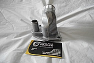 Aluminum Edelbrock Water Pump BEFORE Chrome-Like Metal Polishing and Buffing Services / Restoration Services