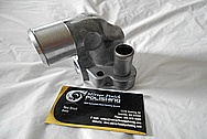 Aluminum Water Pump Piece BEFORE Chrome-Like Metal Polishing and Buffing Services / Restoration Services