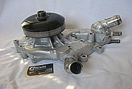 LS1 V8 Aluminum Water Pump BEFORE Chrome-Like Metal Polishing and Buffing Services