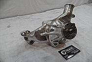 Aluminum Weiand Water Pump BEFORE Chrome-Like Metal Polishing and Buffing Services / Restoration Services