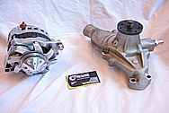1967 Chevy Camaro V8 Water Pump BEFORE Chrome-Like Metal Polishing and Buffing Services
