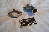 Pontiac OHC Aluminum Thermostat Housing BEFORE Chrome-Like Metal Polishing and Buffing Services / Restoration Services