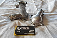 Mitsubishi 3000GT Aluminum Thermostat Housing & Water Piece BEFORE Chrome-Like Metal Polishing and Buffing Services / Restoration Services