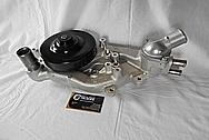 Chevrolet Corvette Aluminum Water Pump Housing BEFORE Chrome-Like Metal Polishing - Aluminum Polishing Services