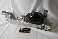 Chevrolet Corvette Aluminum Water Pump Housing BEFORE Chrome-Like Metal Polishing - Aluminum Polishing Services