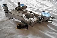 Aluminum Engine Waterpump BEFORE Chrome-Like Metal Polishing and Buffing Services - Aluminum Polishing