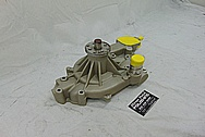GM Aluminum Water Pump BEFORE Chrome-Like Metal Polishing and Buffing Services - Aluminum Polishing Services