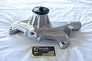 Chevy V8 Aluminum Water Pump BEFORE Chrome-Like Metal Polishing and Buffing Services