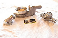 Chevrolet Camaro LS3 Aluminum Thermostat Housing BEFORE Chrome-Like Metal Polishing and Buffing Services
