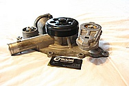 Dodge Challenger 6.1L Hemi Engine Aluminum Water Pump BEFORE Chrome-Like Metal Polishing and Buffing Services