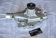 Edelbrock Aluminum Water Pump BEFORE Chrome-Like Metal Polishing and Buffing Services