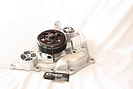 Dodge Challenger 6.1L Engine Aluminum Water Pump BEFORE Chrome-Like Metal Polishing and Buffing Services / Restoration Services