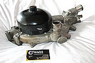 2000 Chevy Corvette Aluminum Water Pump BEFORE Chrome-Like Metal Polishing and Buffing Services / Restoration Services