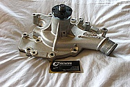 Aluminum Ford Racing Water Pump BEFORE Chrome-Like Metal Polishing and Buffing Services / Restoration Services