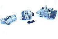 Dodge Hemi 6.1L Aluminum Waterpump BEFORE Chrome-Like Metal Polishing and Buffing Services