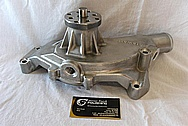 Stewart Aluminum Water Pump Housing BEFORE Chrome-Like Metal Polishing and Buffing Services / Restoration Services